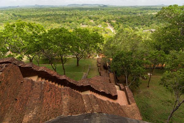 Aufstieg auf den Sigiriya Löwenfelsen