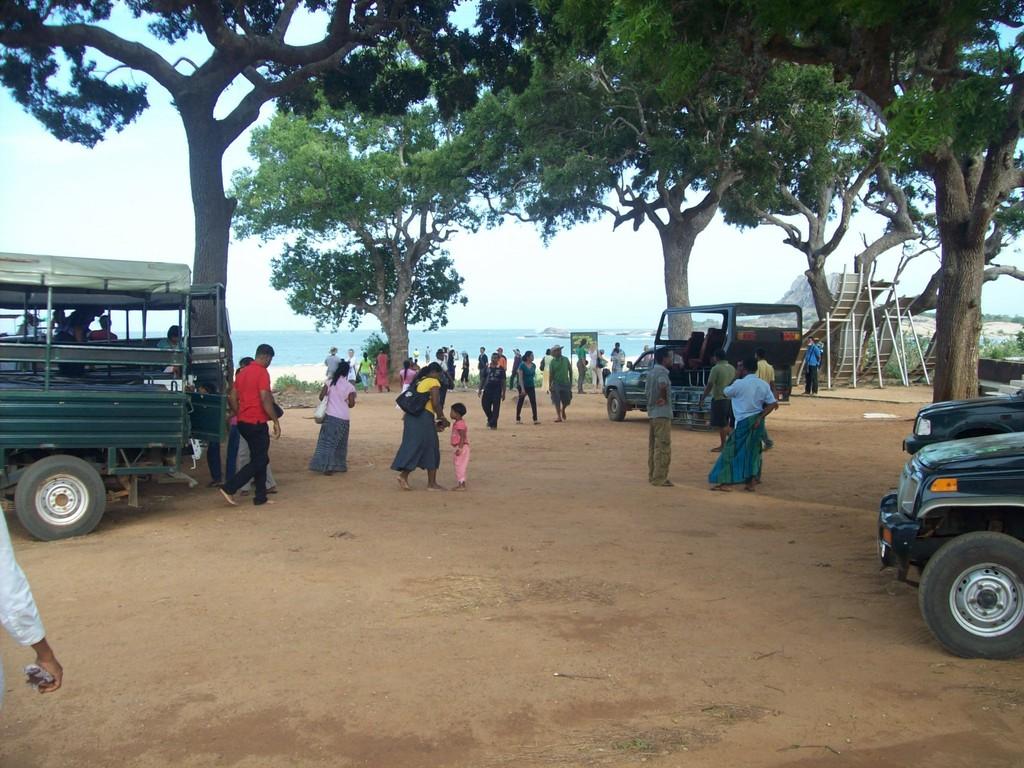 Pause an der Küste im Yala Nationalpark