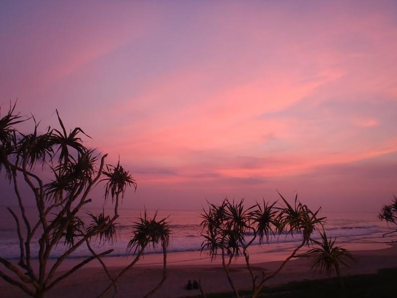 Sonnenuntergang an der Südküste