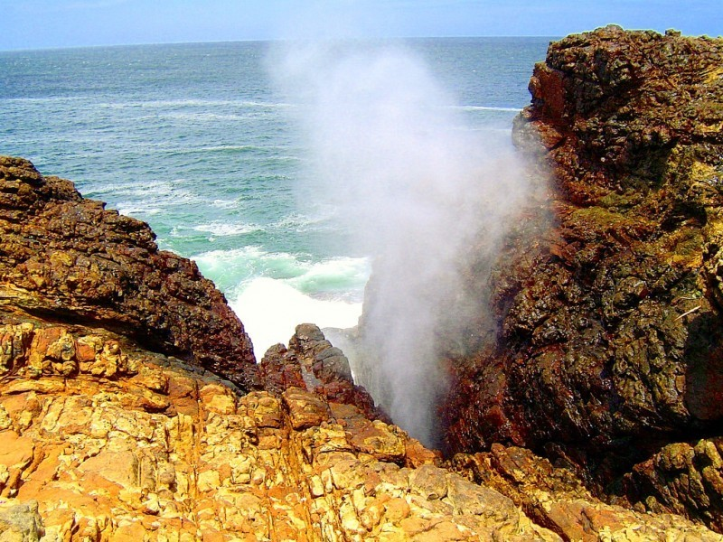 Naturschauspiel vom Blasloch Blow Hole, Südküste