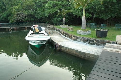 Start und Ende der Boot-Safari