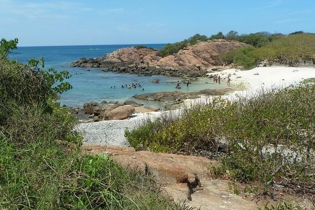"""Badestrand auf der Korallen-Insel """"Piegon Island"""""""