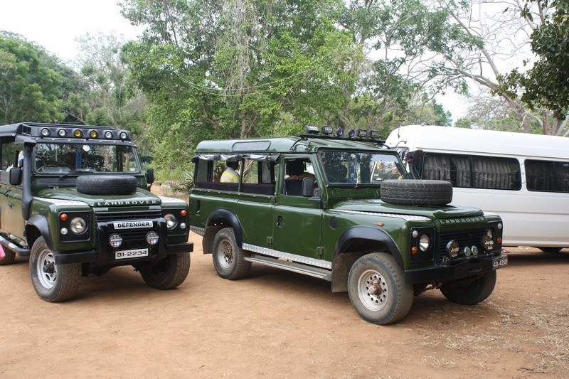 Start der Jeep-Safari im Yala Nationalpark