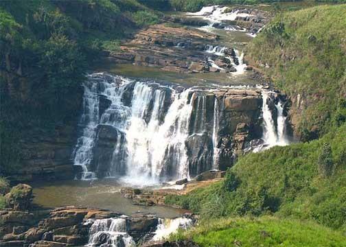 St. Clair Wasserfall, Hochland
