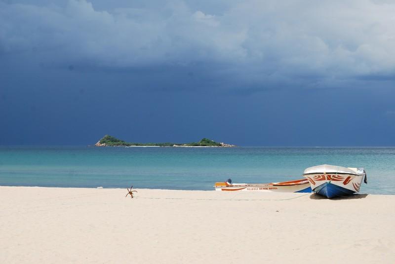 """Blick auf die Korallen-Insel """"Piegon Island"""""""