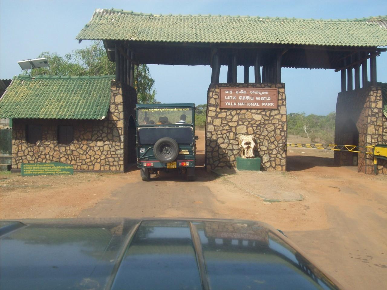 Eingang zum Yala Nationalpark