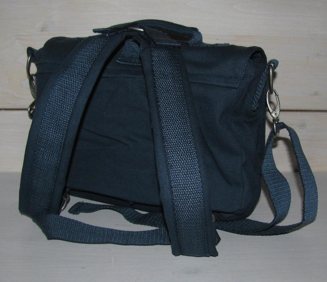 Rückansicht mit abnehmbaren Rucksackbändern