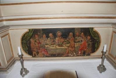 Abendmahlsbild am Altar