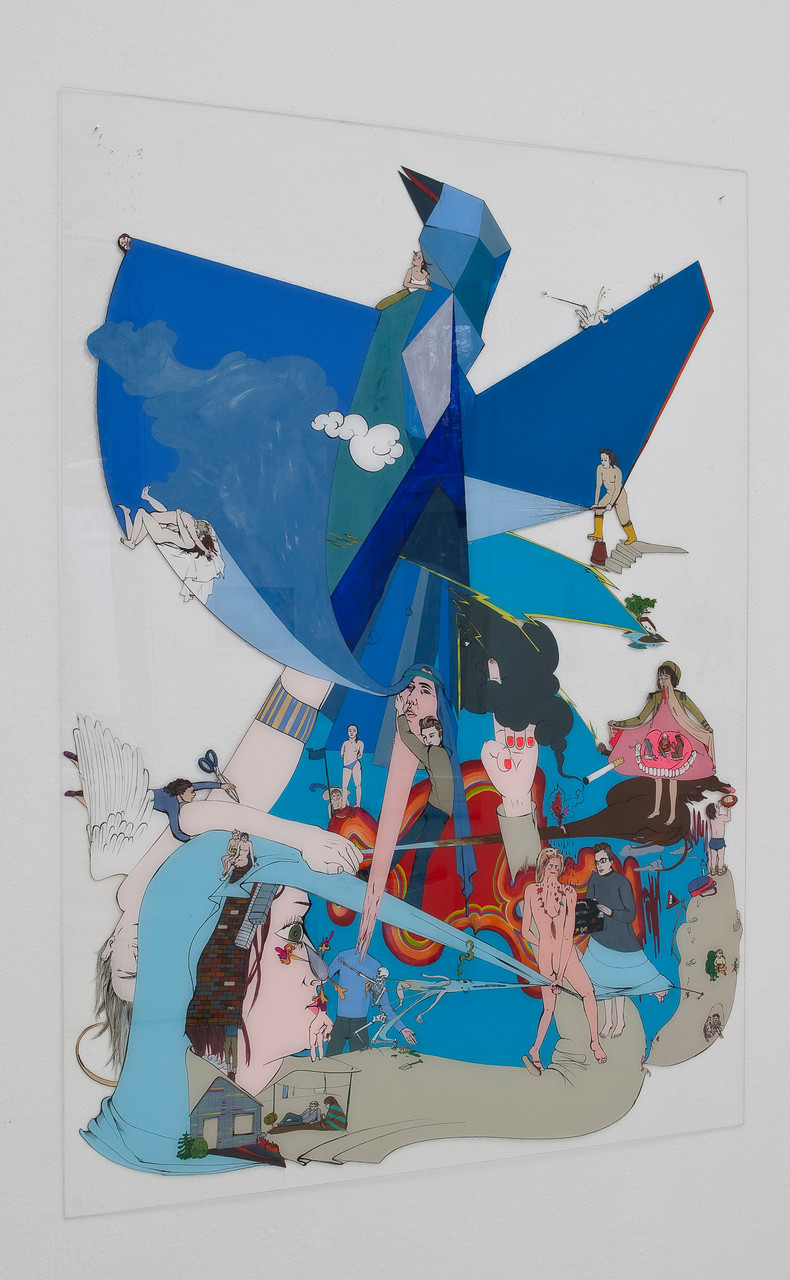 Swarovski-Flug: Katharina Gschwendtner Malerei Zeichnung