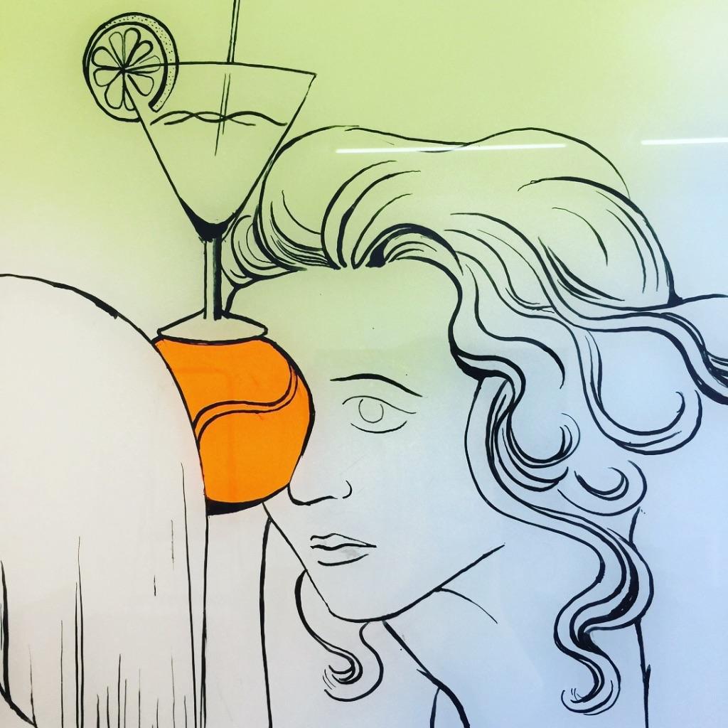 Navratilova Ausschnitt: Katharina Gschwendtner Malerei Zeichnung