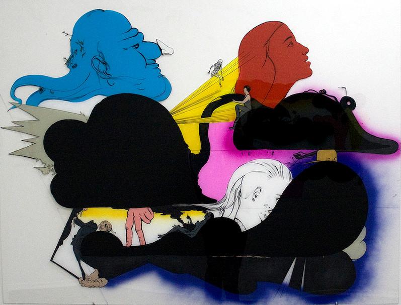 Gott und ich: Katharina Gschwendtner Malerei Zeichnung