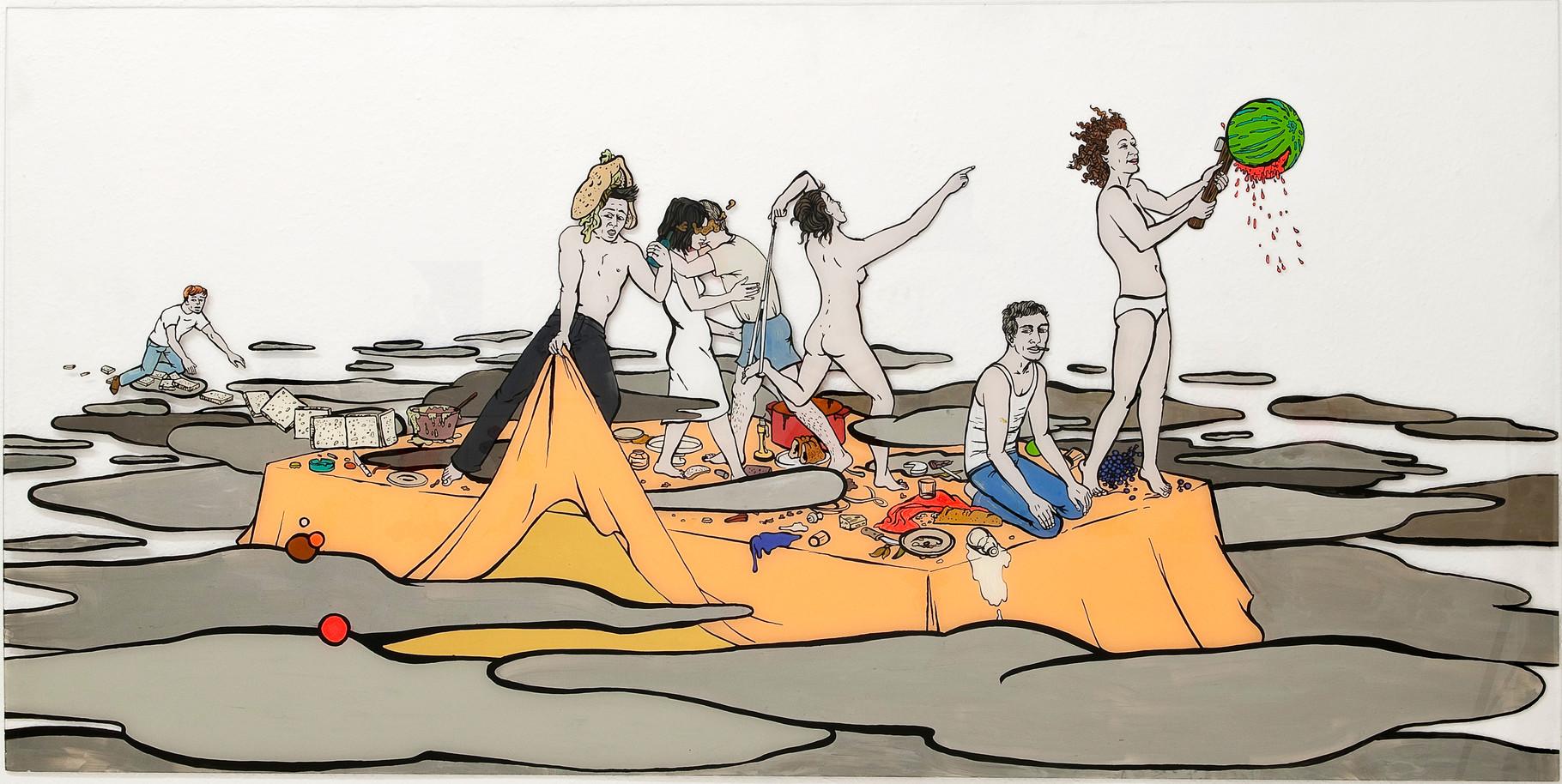 Party: Katharina Gschwendtner Malerei Zeichnung