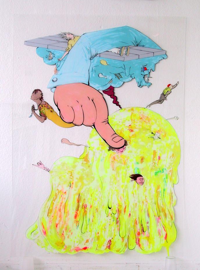 Finger (Druck): Katharina Gschwendtner Malerei Zeichnung