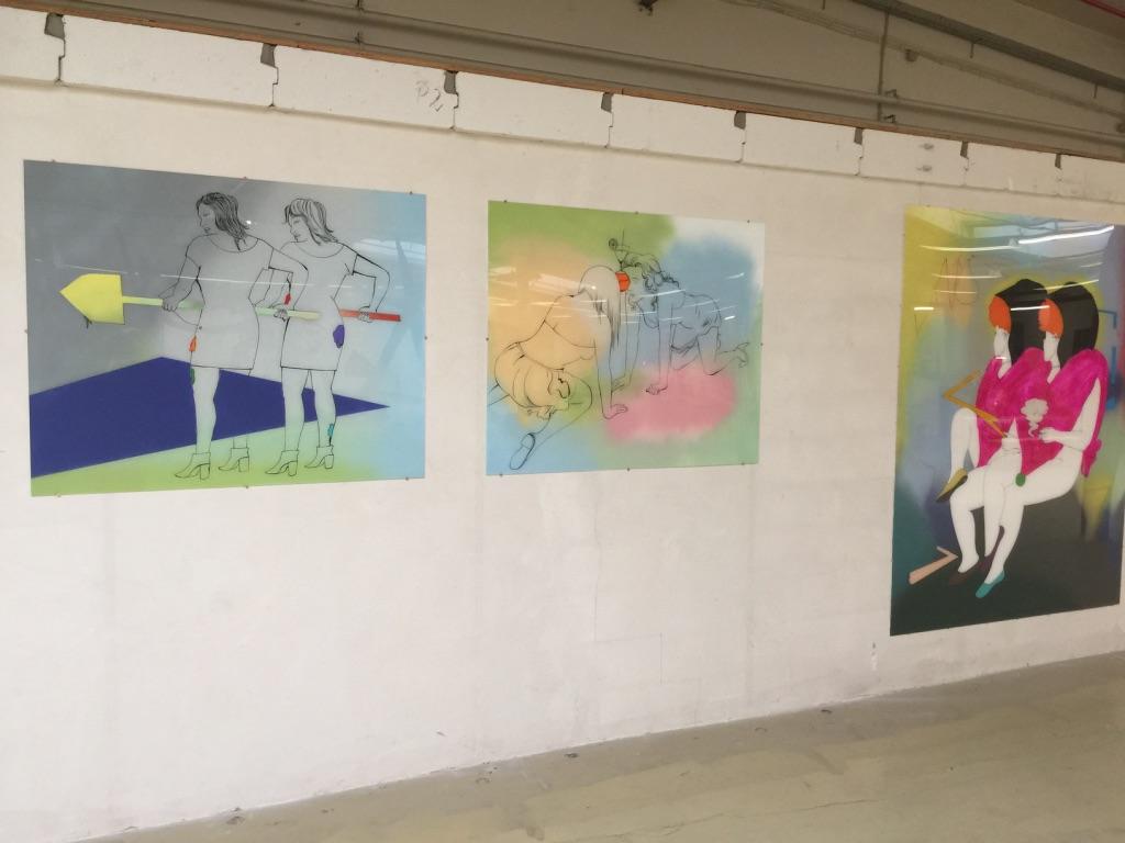 Ausstellungsansicht (Not) at home: Katharina Gschwendtner Malerei Zeichnung