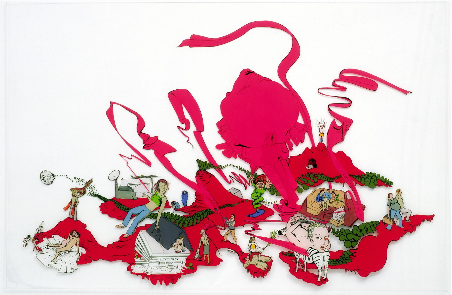 Geist (Krieg, aber woanders): Katharina Gschwendtner Malerei Zeichnung