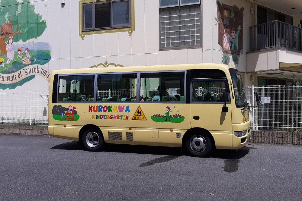 専用のスクールバスが運行しています