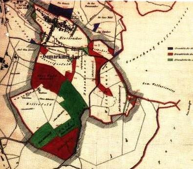 Noch vor der Eingemeindung hatte die Gemarkung Aue eine Fläche von 283 ha .