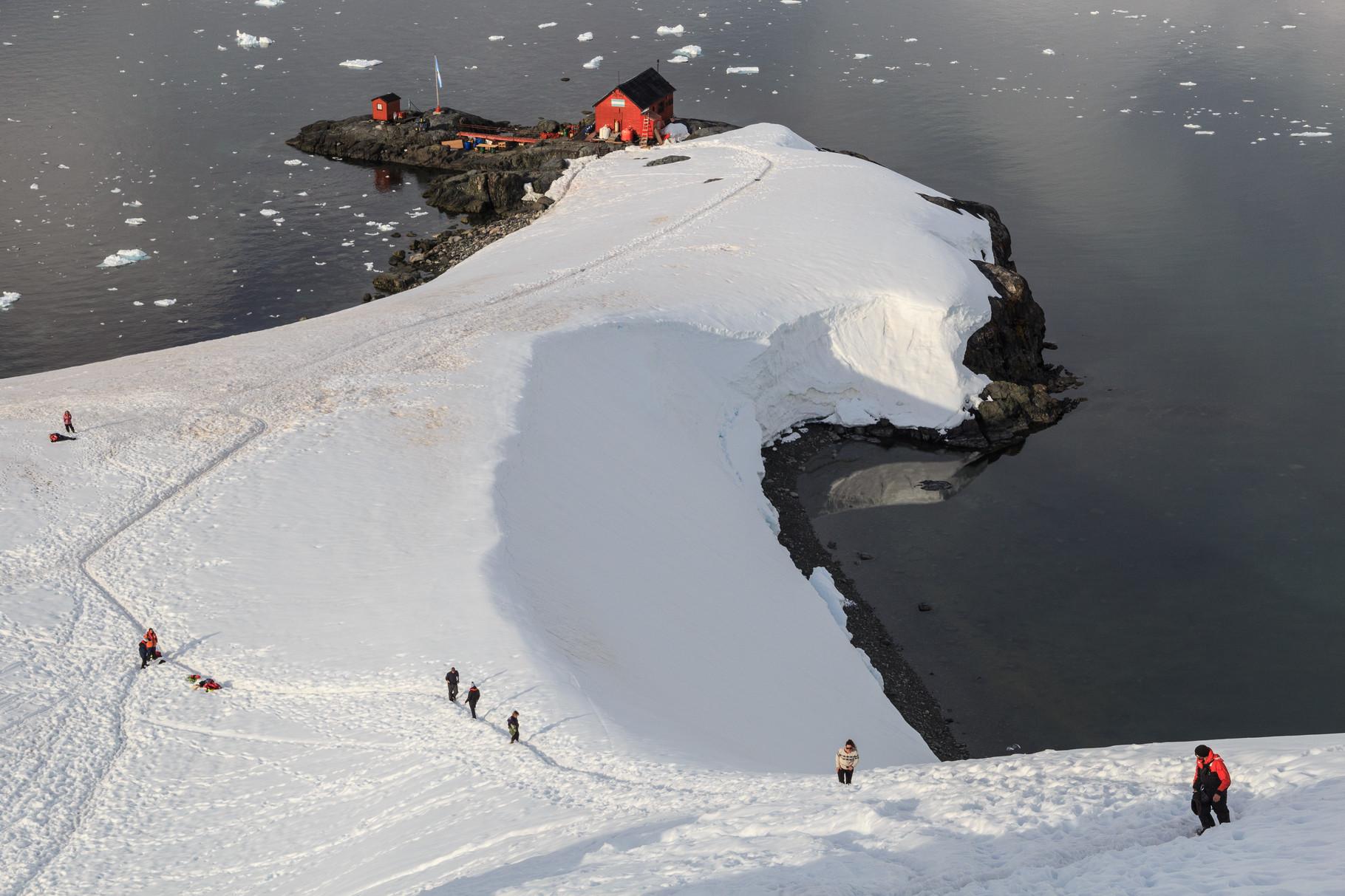 Segelreise mit der Bark Europa in die Antarktis: Almirante Brown, argentinische Antarktisstation, Coughtrey Peninsula