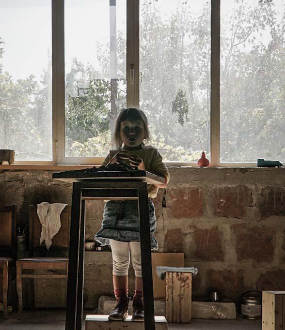 Atelier in Jerewan, Steinmetz, Skulpturist