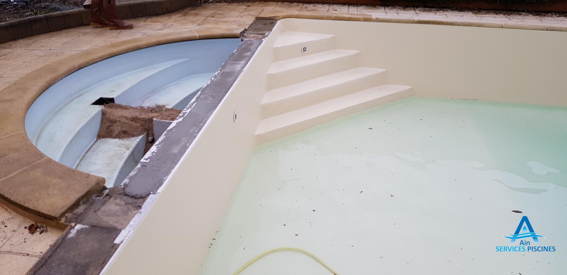 Rénovation d'une piscine à Romenay (Saône et Loire)