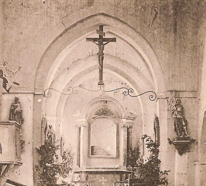 Le coeur de l'église dans les années 1800