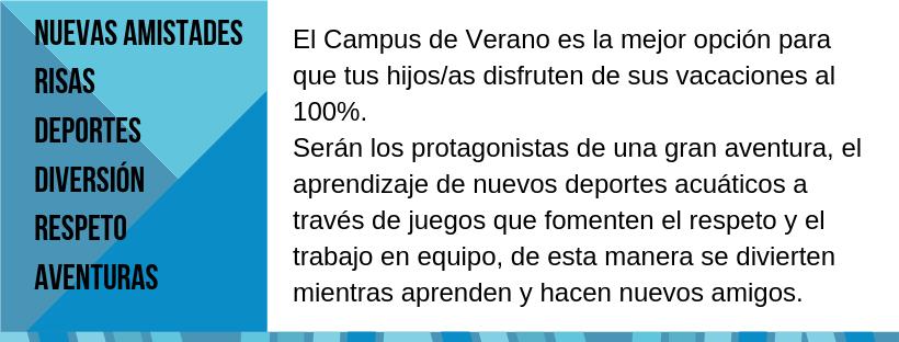 Información Campus de Verano / Actividades infantiles en Isla Canela