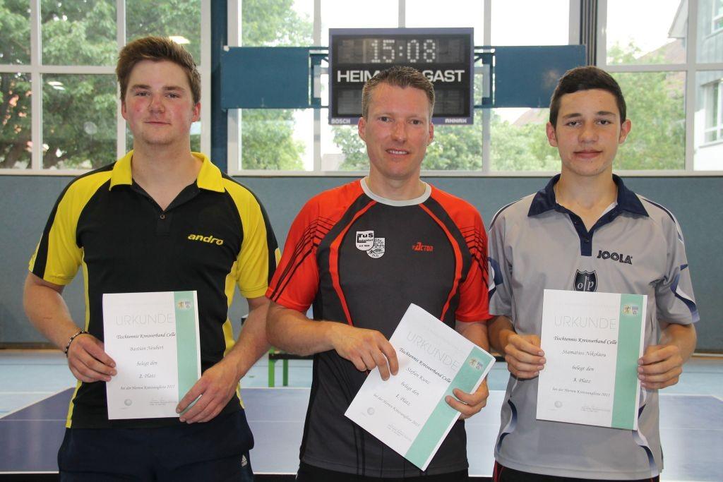Sieger Herren v.l.: Bastian Neubert, Stefan Kunz, Stamatios Nikolaou