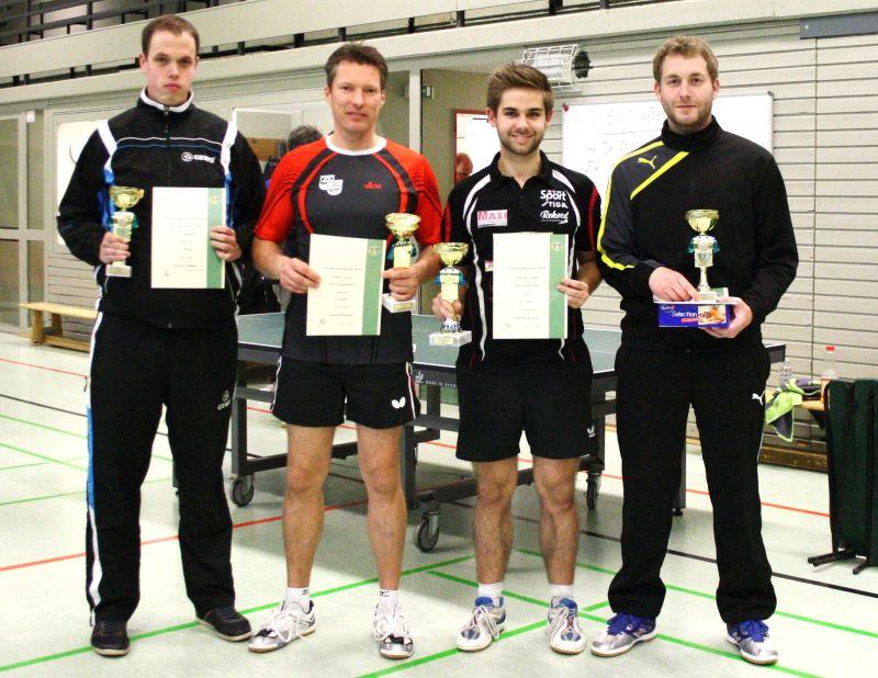 Herren  A/S (v.l.n.r.).Sven Nähle (3.)  ,Stefan Kunz (2.), Jannik Weber (1.), Christof Bruns (3.)