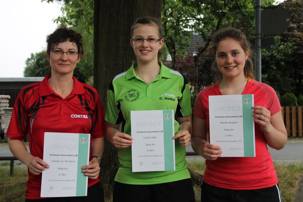 Siegerinnen Damen v.l.: Claudia van Alst-Rösch, Carolin Oelker, Mareike Burghard