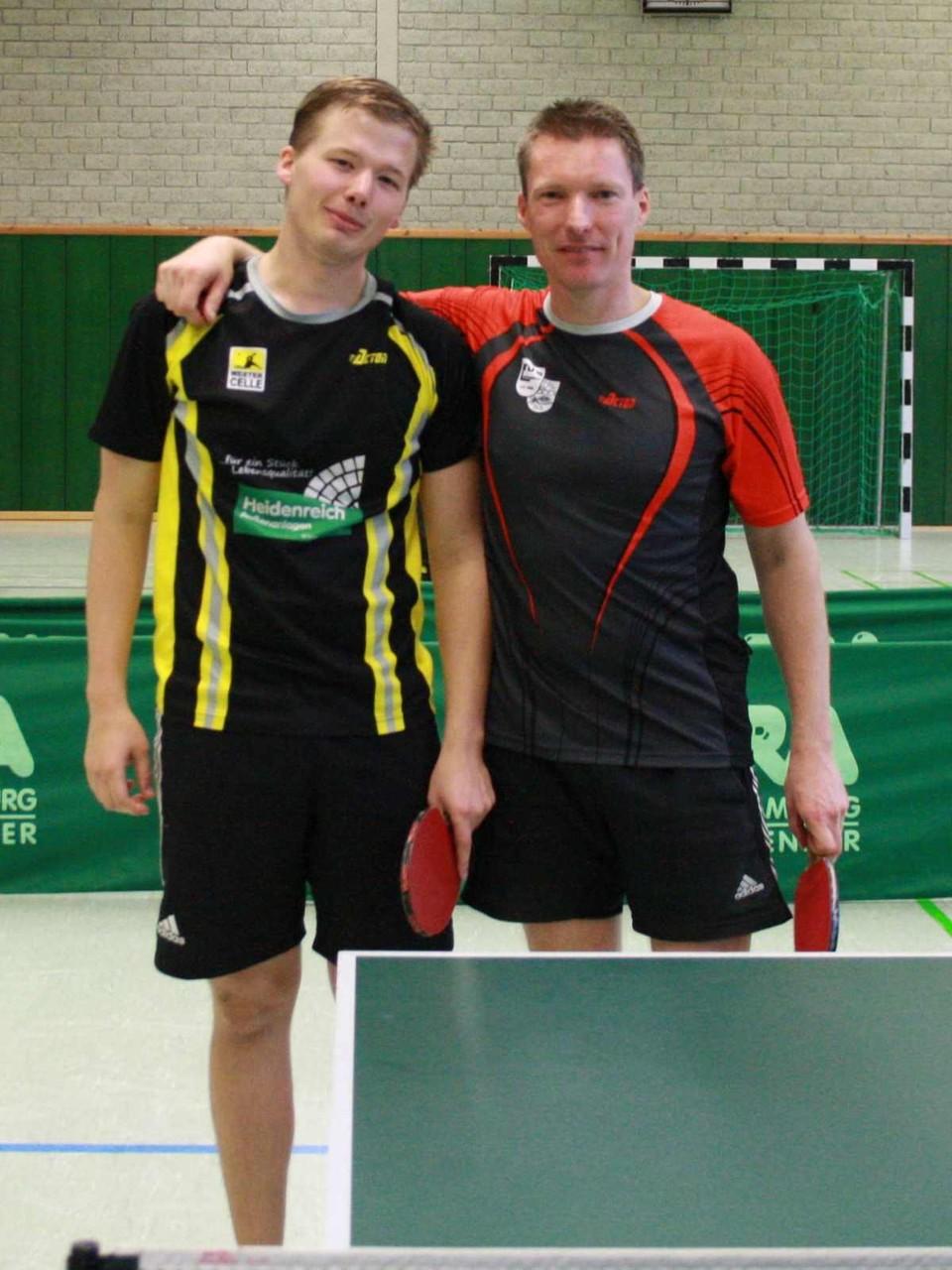 v.l.: Kreismeister Herren Andres Oetken, Vizekreismeister Stefan Kunz