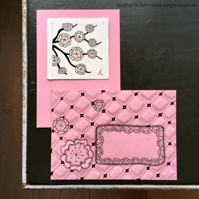 HAPPY As An Address Frame At Birthday Envelope Together With The Pattern FLORZ From Maria Thomas And Rick Roberts Founders Of ZentangleRmethod