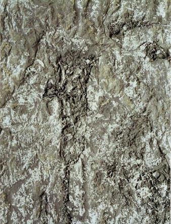 Landschaft, farbige Kalkreibung, 1991, Libbenichen, Knochenleim, Seegras, Kalk, Pigment auf Konsumeinwickelpapier, 60 x 90 cm