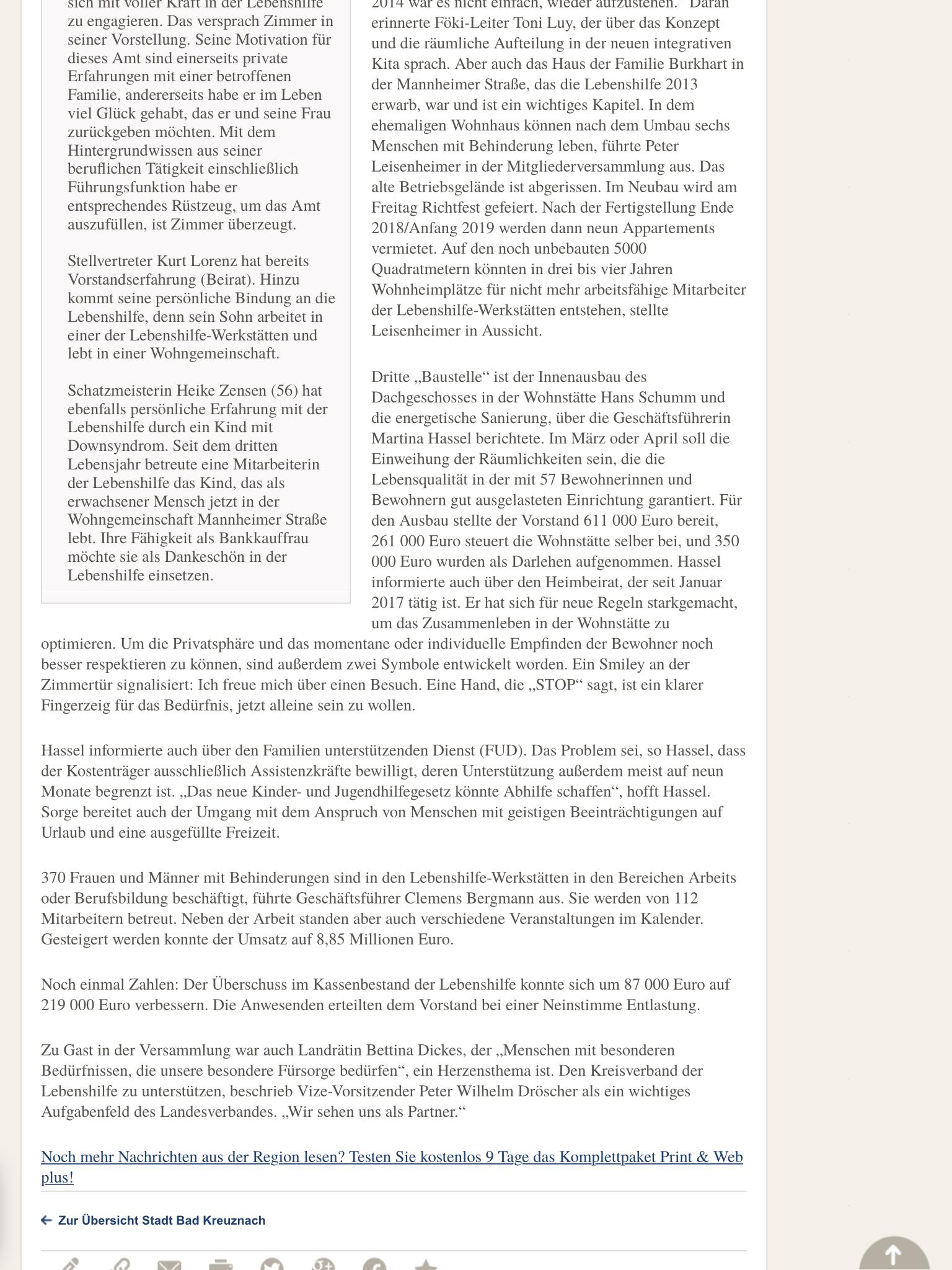 Presseartikel Neuer Vorstand 29.11.2017