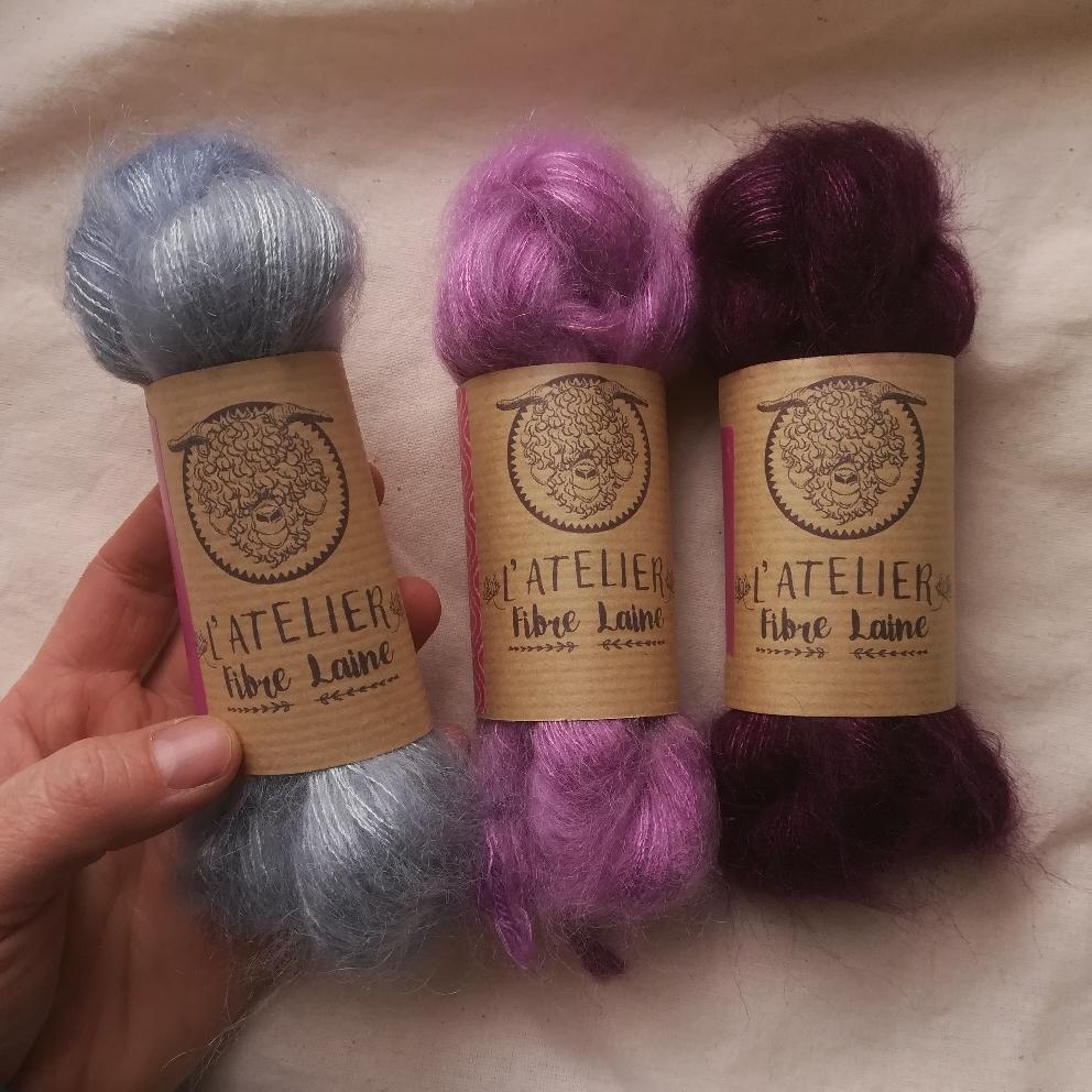Une nouvelle présentation pour ma laine Céleste. Des mignonnettes d'écheveaux !