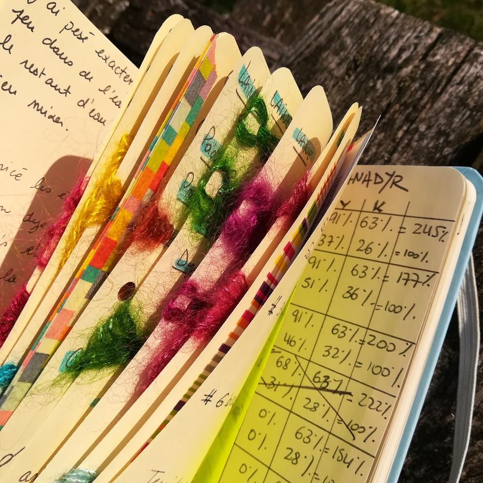 Cahier de formulation de couleurs