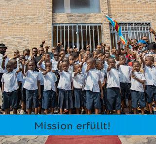 Mission Kongo - Zwei Stunden Licht zum Lernen - Mission erfüllt!