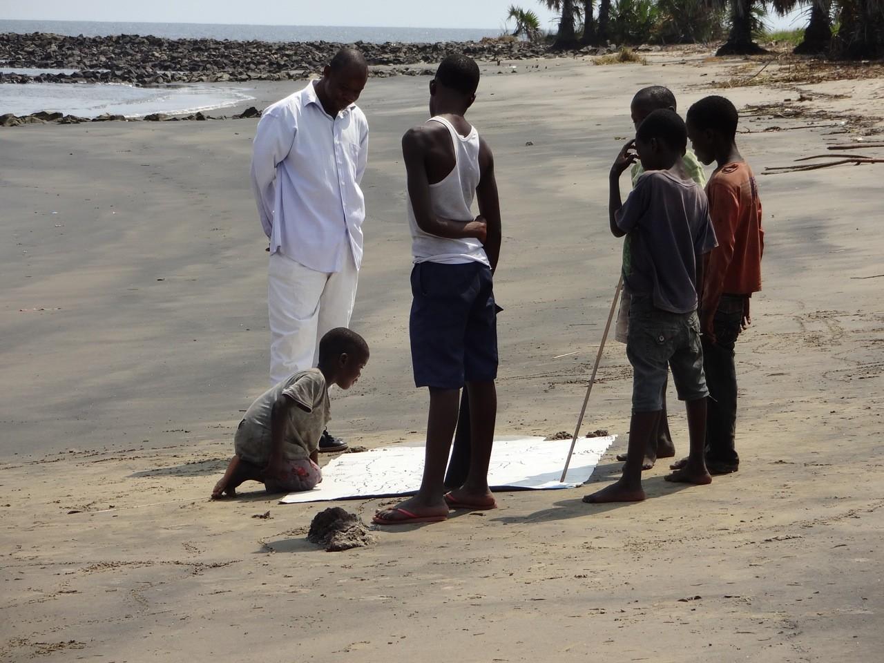 Wo der Kongo in den Atlantik fließt