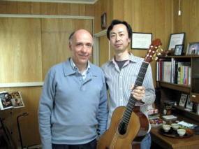 カルロス・ボネル氏と(2010年・自宅教室にて)