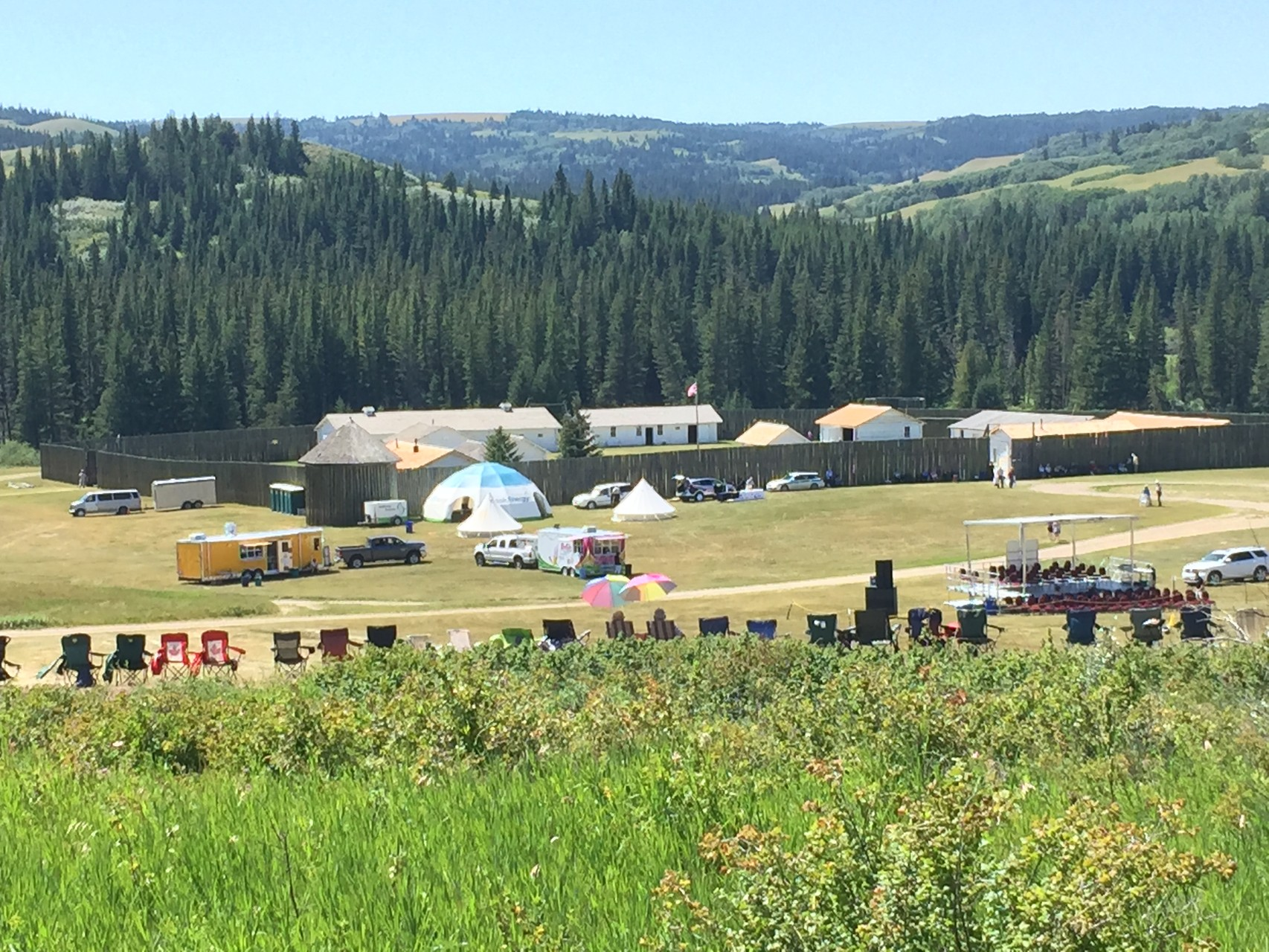 Fort Walsh for RCMP Musical Ride