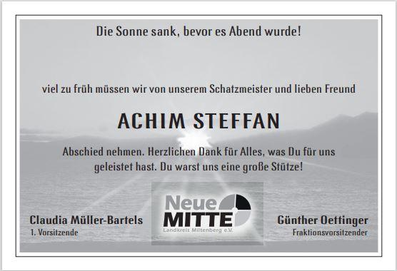 Abschied von Achim Steffan