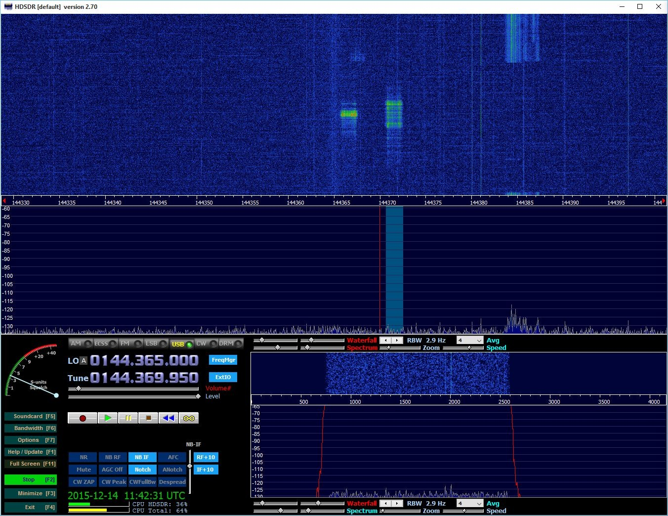 10 sec burst from SM6CEN calling CQ on 144.370