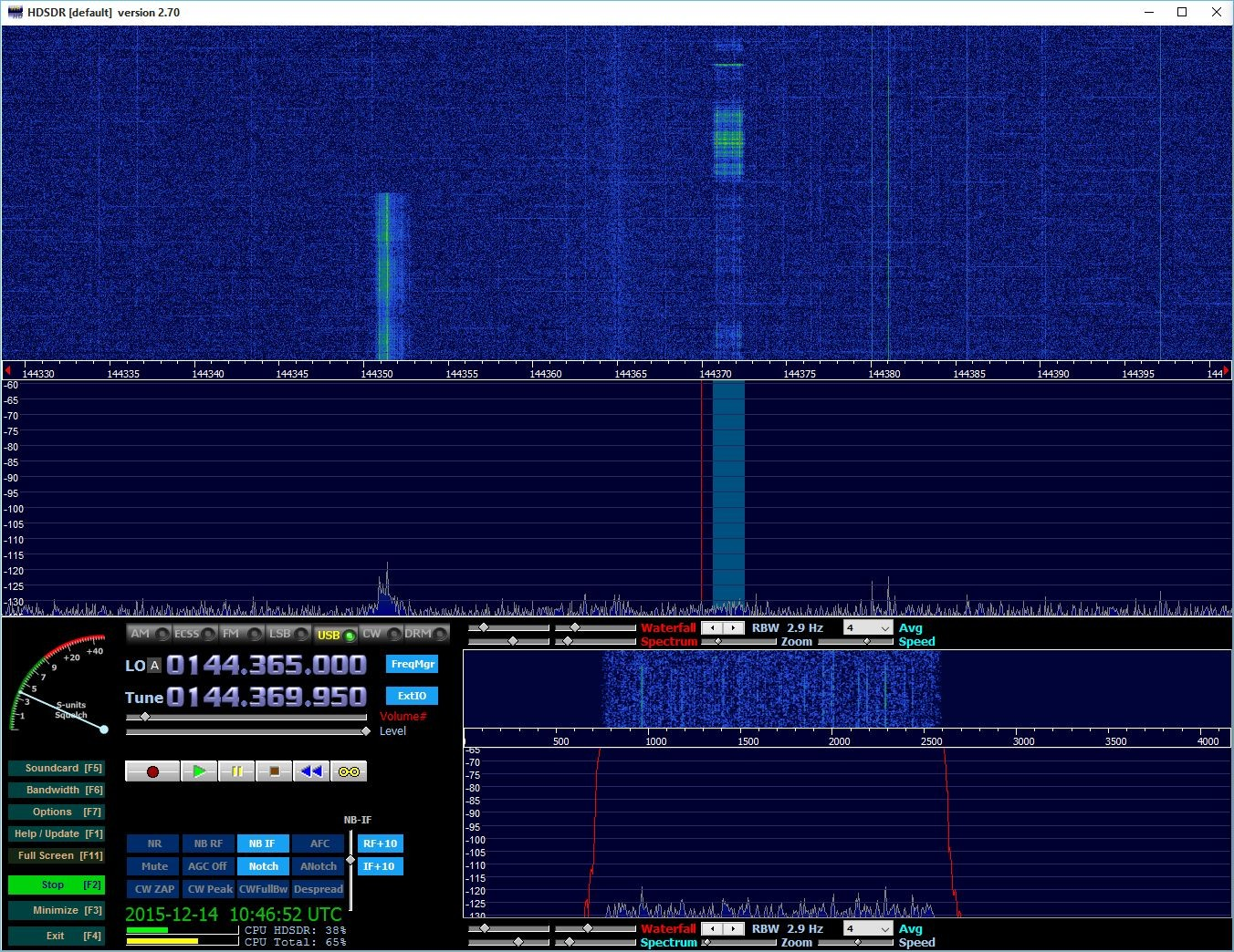 Good burst from ES3RF on 144.70