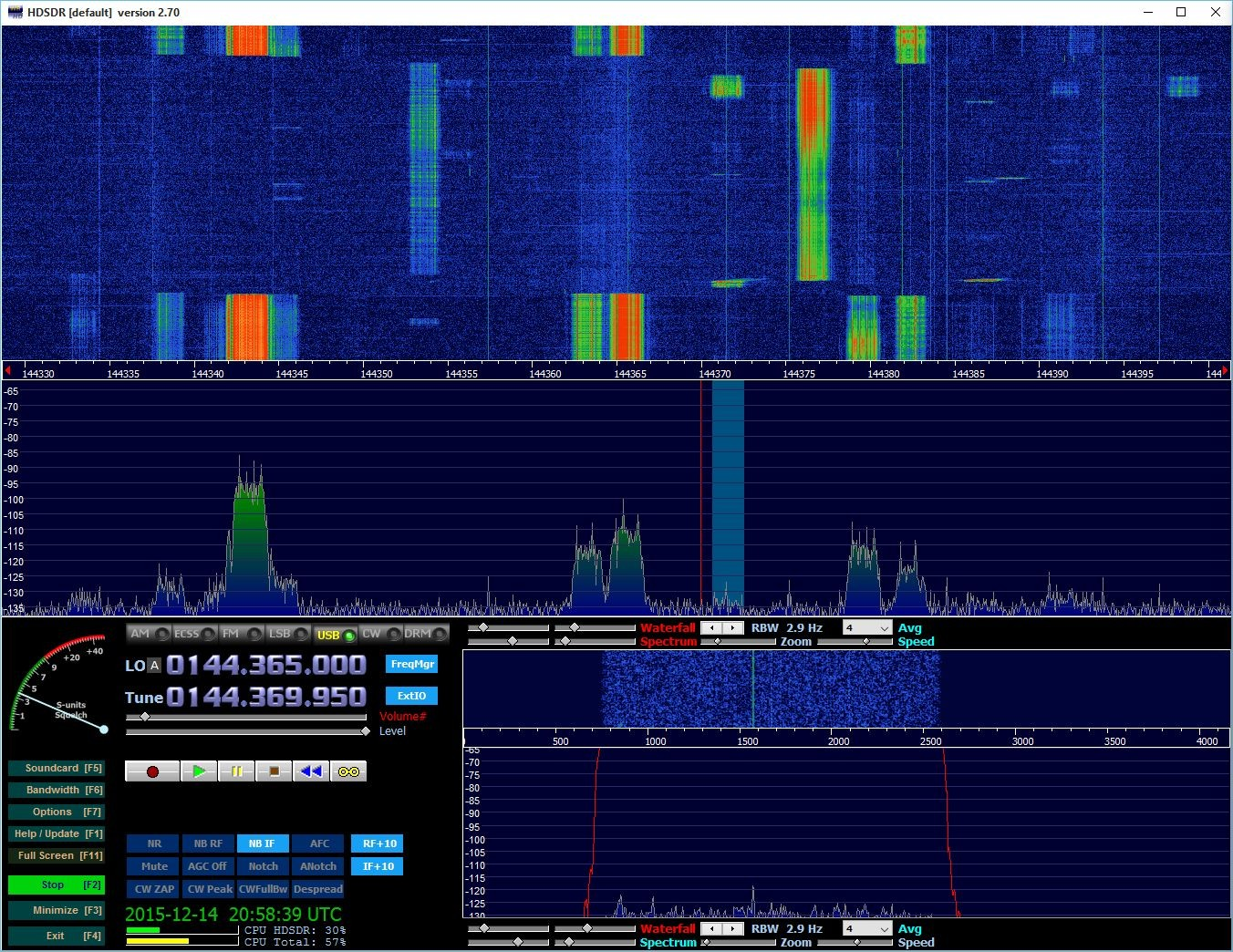 Bursts from RM1A calling CQ on 144.370
