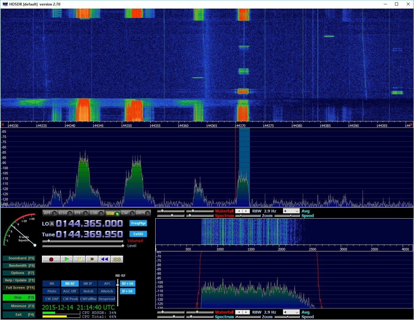 Lots of bursts from OH6NG and EU6AF on 144.370