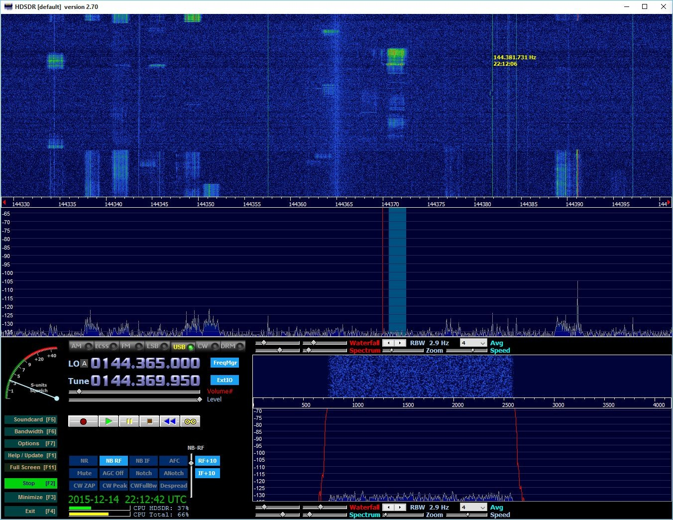 Bursts from RU3X calling CQ on 144.370