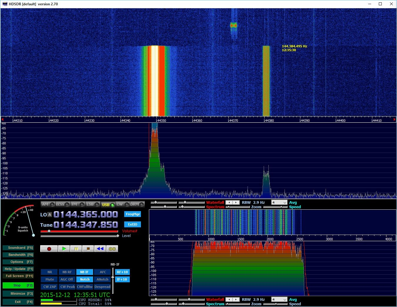 Strong FSK441 signal on 144.348 from DL8SCQ
