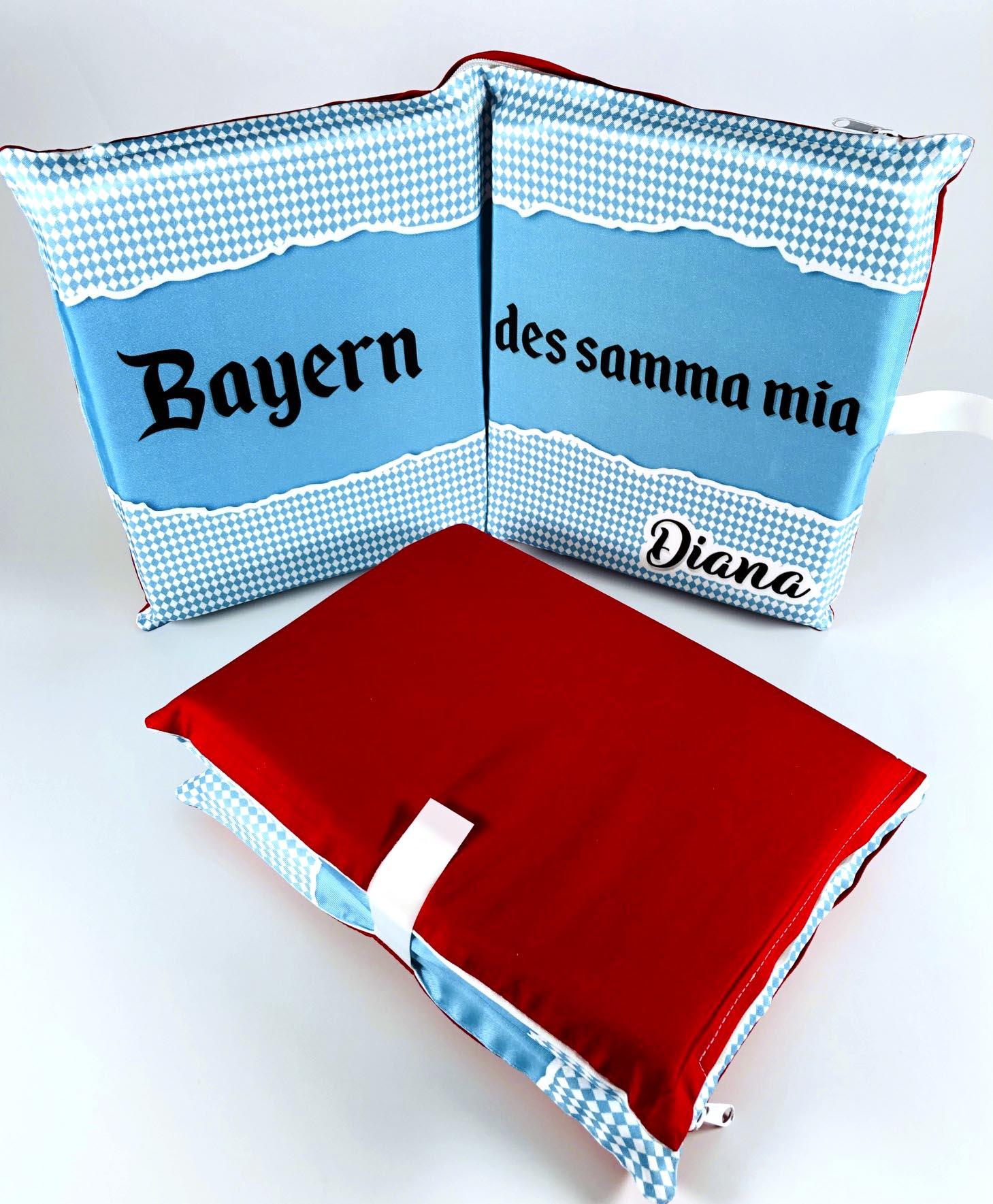 Sitzkissen rot für Bayern-Fans