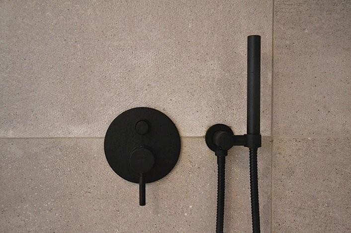 duscharmatur hohe design armatur serie oxo ii schwarz matt projekt - Dusche Unterputz Armatur Hohe