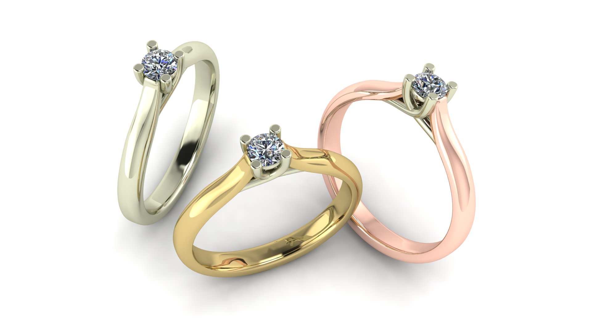Solitaire, diamanten ringen