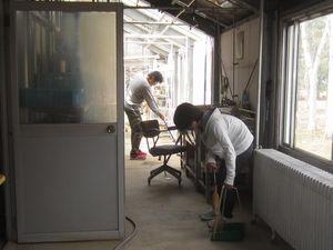 温室掃除、サンプル整理